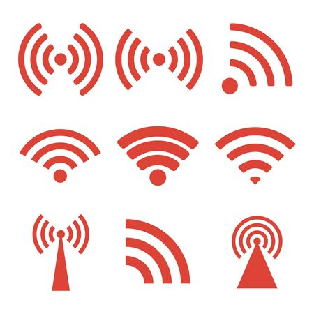 wireless lan: Wireless technology. Flat design style