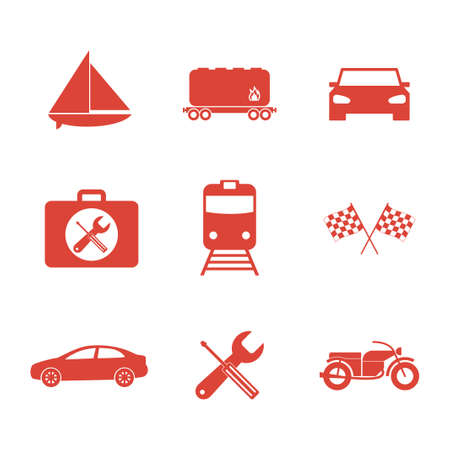 mini bike: Transportation icons. Flat design style Illustration