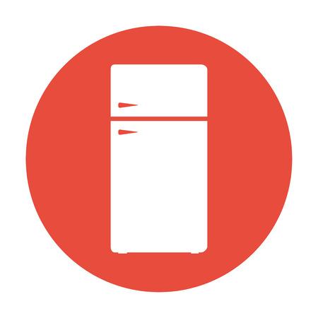 냉장고의 아이콘입니다. 플랫 디자인 스타일