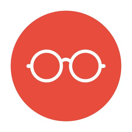 spectacle frame: Glasses icon. Flat design style   Illustration