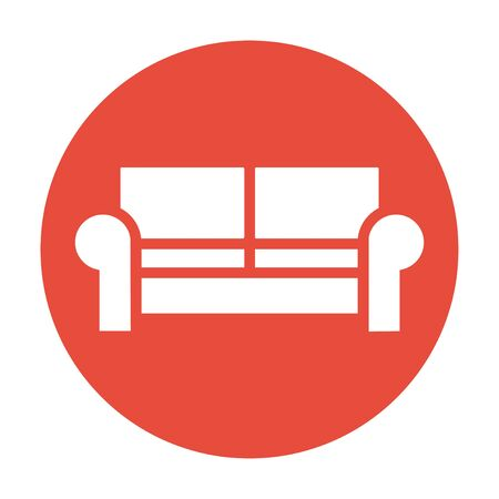 comfortable: Comfortable sofa Icons. Flat design style   Illustration