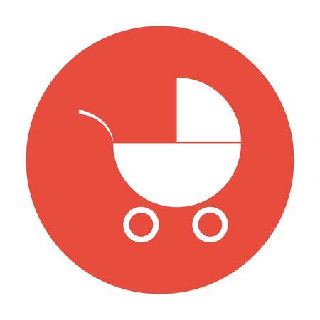 pram: Pram icon. Flat design style  Illustration
