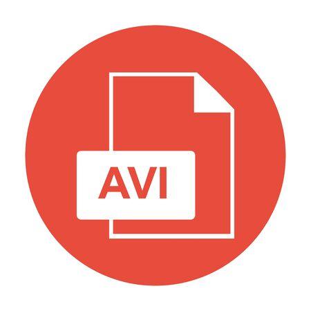 avi: avi file icon. Flat design style