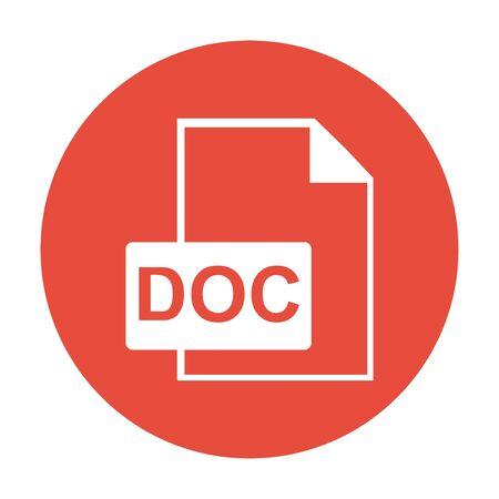 File document icon. Download doc button. Vector