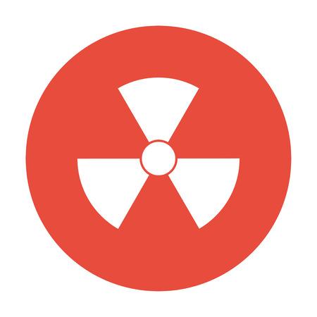 irradiation: radiation symbol. Flat design style eps 10 Illustration