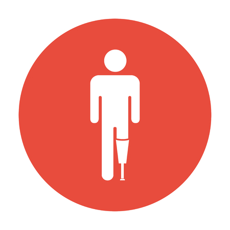 義足アイコン フラットの図  イラスト・ベクター素材