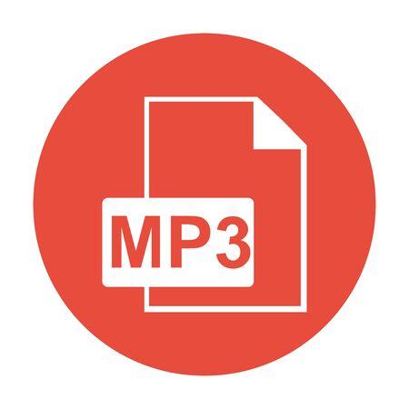 mp3: mp3 file icon. Flat design style
