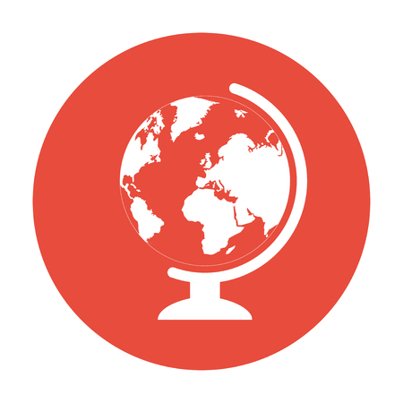 geography: geography school earth globe web icon.