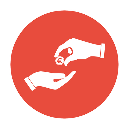 give: Flat icon give alms  Illustration Illustration