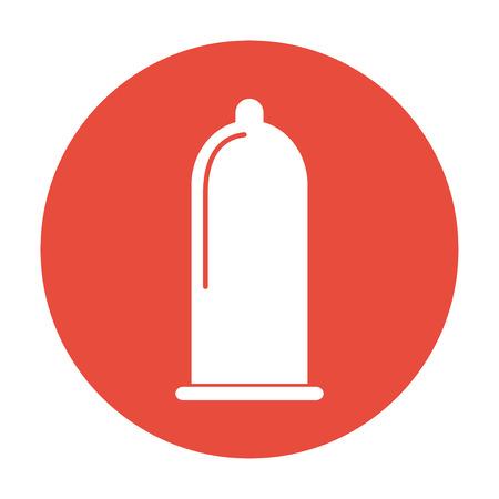 condones: Los condones icono, vector plana Ilustraci�n Vectores