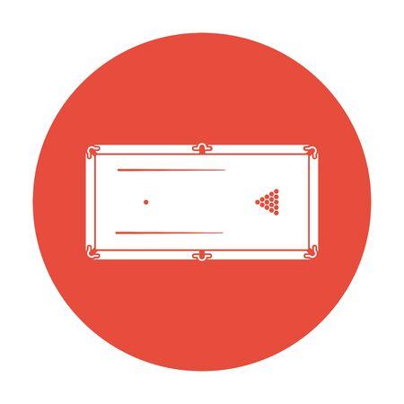 billiards table: pool or billiards table symbol. Flat design style.