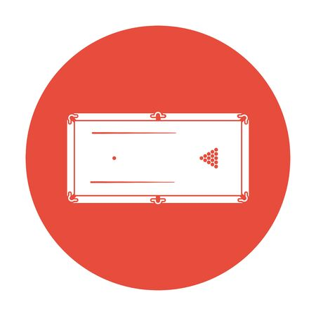 pool or billiards table symbol. Flat design style.