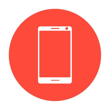 smartphone: smartphone icon illustration flat Illustration