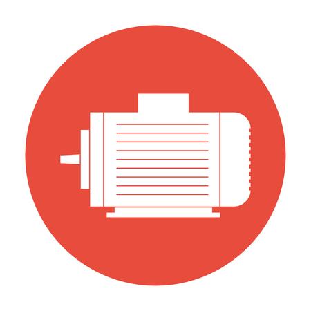 electric motor: Electric motor icon flat Illustration Illustration