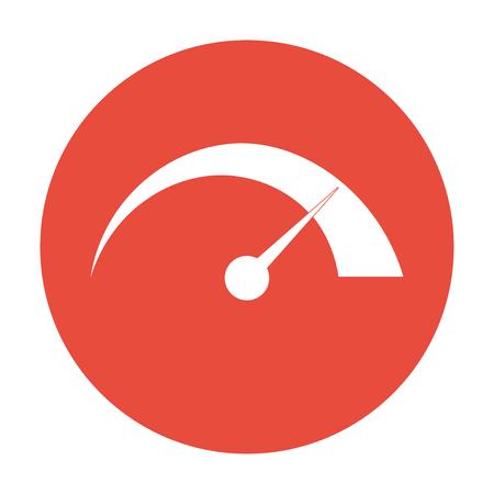 Vector speedometer icon Flat design style