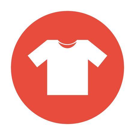 tshirt design: Tshirt Icon icon illustration. Flat design style