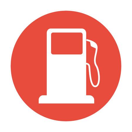 gasoline pump: Gasoline pump nozzle sign. Gas station icon. Flat design style.
