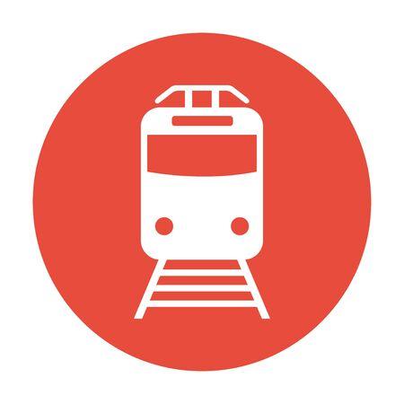highspeed: Train icon, isolated  illustration