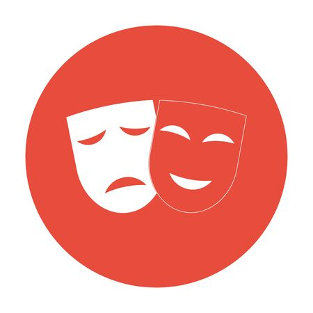 moods: Theater icon with happy and sad masks.