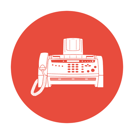 fax machine: Fax machine icon illustration