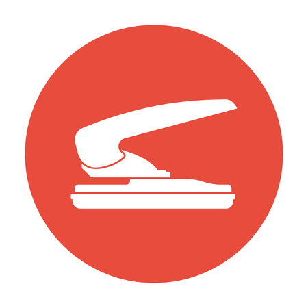 hole in paper: two hole paper puncher icon illustration