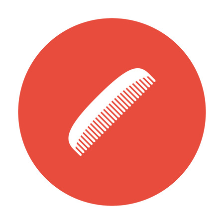 hairstyling: comb vector icon. Design style