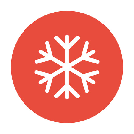 lightweight ornaments: Snowflake flat icon. Vector illustration Illustration