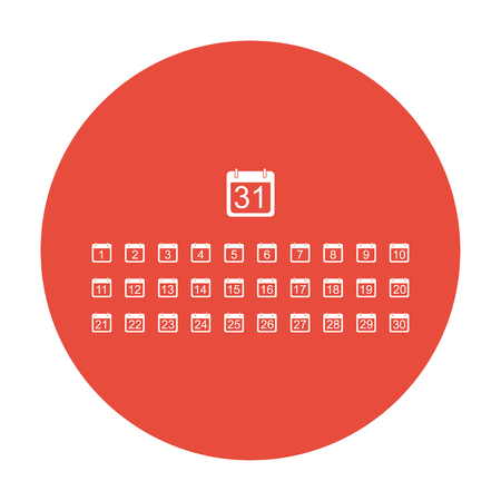 chronology: Flat vector calendar icon. Design style