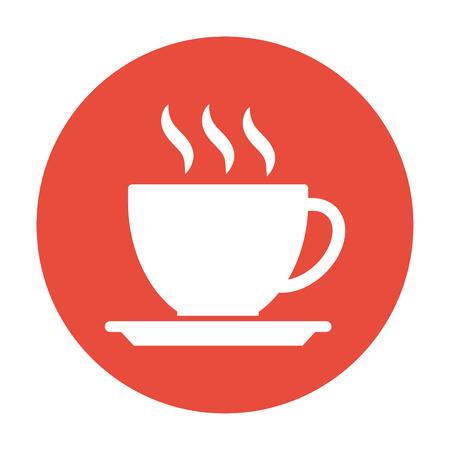 コーヒー カップのアイコンを。フラットなデザイン スタイル