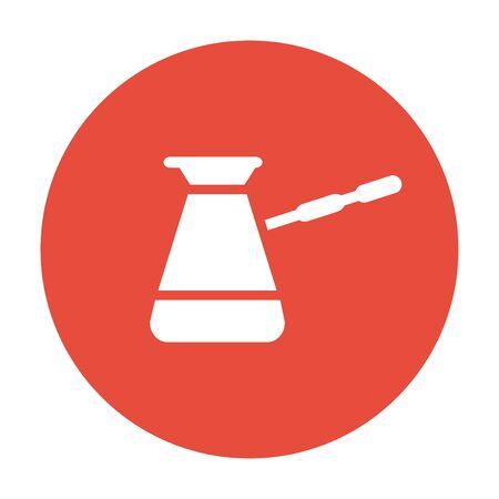 turk: The turk icon. Coffee symbol. Flat design style