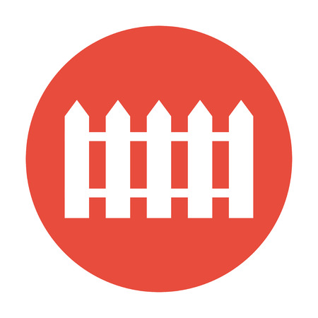 dissociation: fence icon. Flat design style