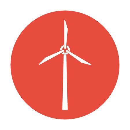 airscrew: Wind turbine icon. Flat design style