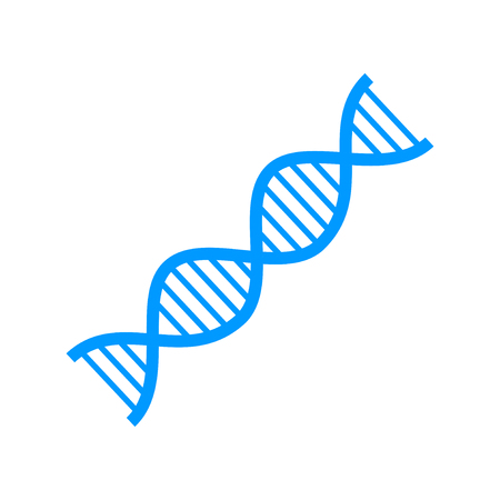 dna strand: Vector DNA icon. Flat design style eps 10 Illustration