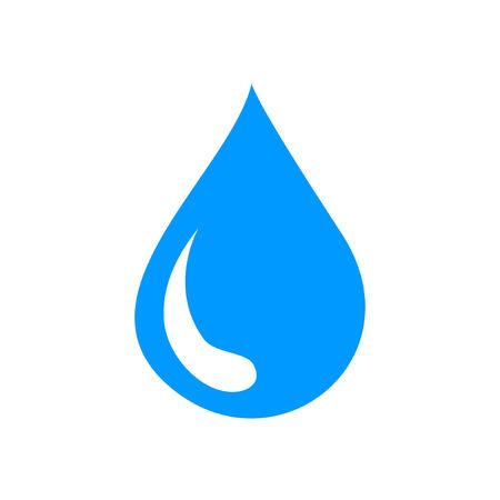 kropla deszczu: ikona wody, płaskim ilustracji wektorowych. Konstrukcja EPS 10 Ilustracja