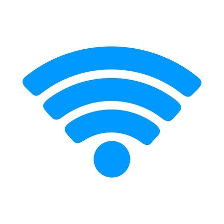 lan: Vector Wi-Fi network icon. Flat design style eps 10