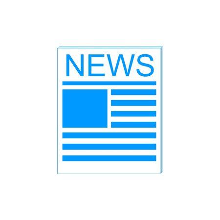 newsprint: Flat  icon of news. Flat design style eps 10