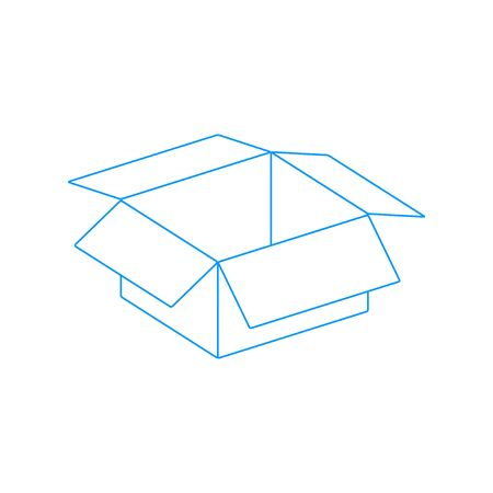 box vector illustration. Flat design style eps 10 Illustration