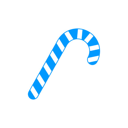 peppermint candy: Christmas peppermint candy cane with stripes flat icon for apps and websites