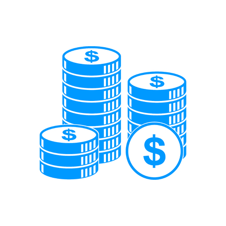 dollar coins: stack of coins icon. Design style eps 10 Illustration