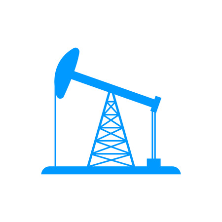 fracking: Oil Rig Icon. Flat design style eps 10