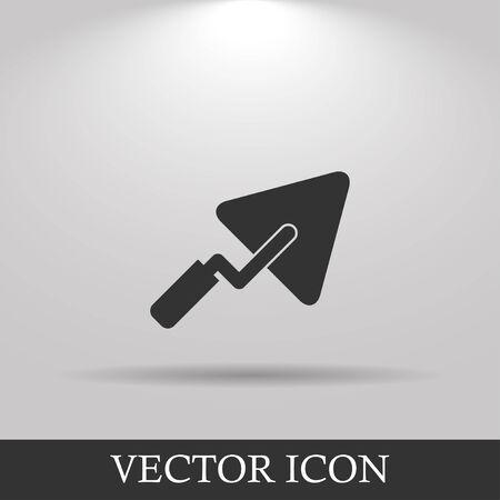 roughcast: trowel icon. Flat design style eps 10 Illustration