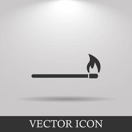 match icon. Flat design style eps 10 Illustration