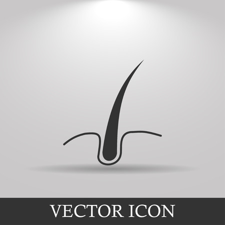 men and women: hair  icon. Flat design style eps 10