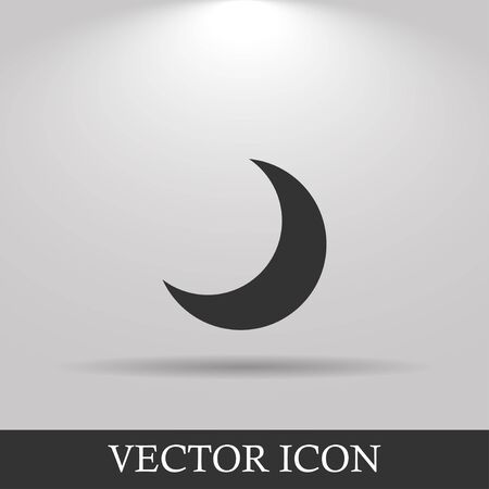 afterglow: moon vector icon, Flat design style  EPS Illustration