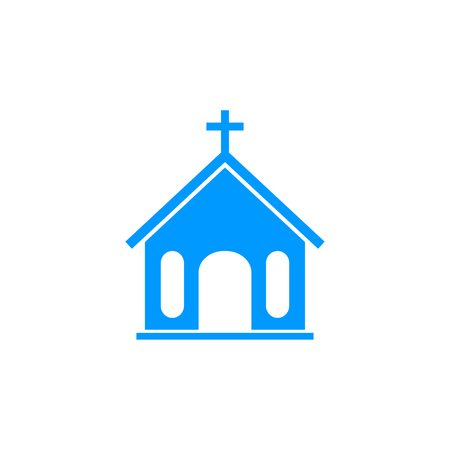 the altar: church icon. Flat design style eps 10