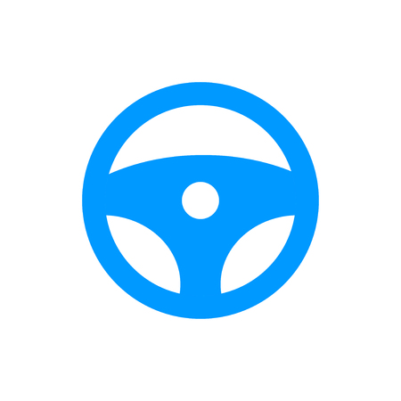 icon steering wheel. Flat design style eps 10 일러스트