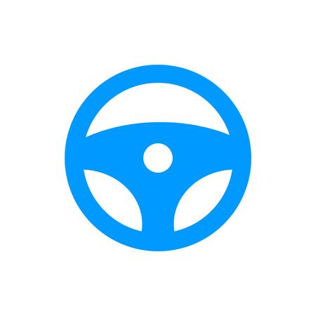 icon steering wheel. Flat design style eps 10 Illustration