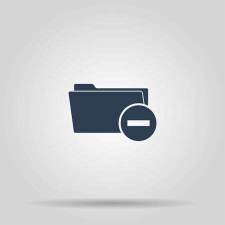 category: Remove Folder icon. Vector Eps 10 flat