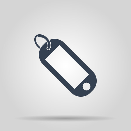 key fob: trinket icon. Flat design style eps 10