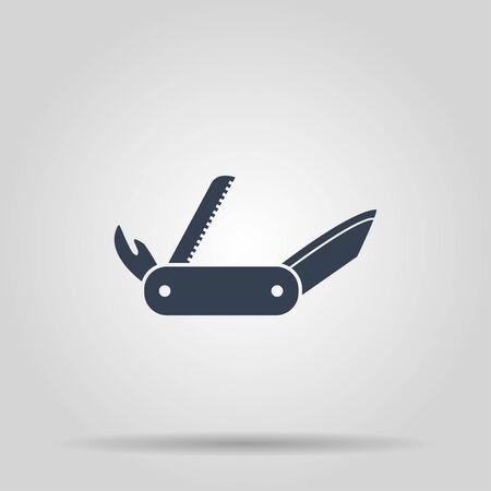 swiss knife icon. Flat design style eps 10